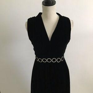 Vintage Victor Costa Dress Ruffle Hem Velvet